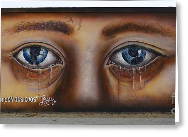 Help Me Look Through Your Eyes Greeting Card by Bob Christopher