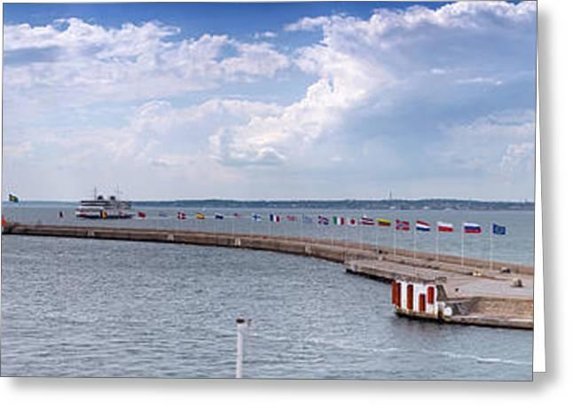 Helsingborg Port Panorama Greeting Card