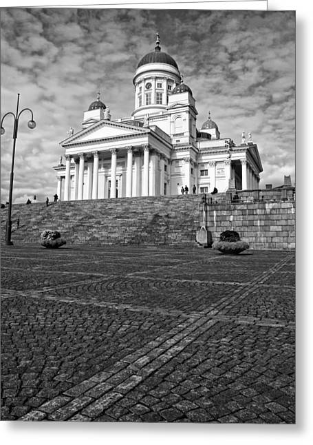 Helsinki Cathedral Greeting Card by Claudio Bacinello