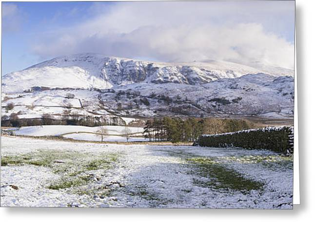 Helvellyn Mountain Range Greeting Card by Tim Gainey
