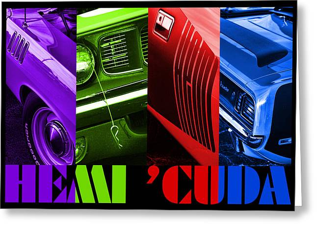 Hemi 'cuda Greeting Card by Gordon Dean II