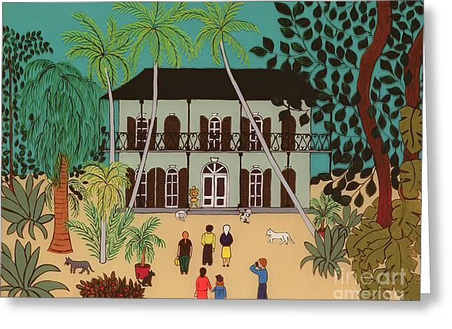 Hemingways House Key West Florida Greeting Card
