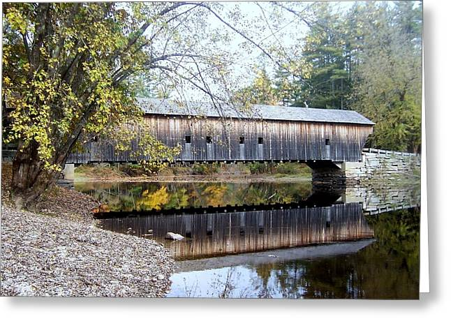 Hemlock Covered Bridge Greeting Card by Catherine Gagne