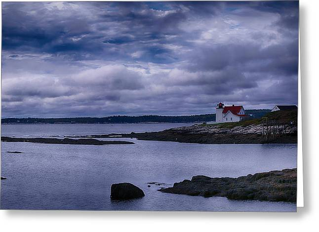 Hendricks Head Light Greeting Card by Jeff Folger