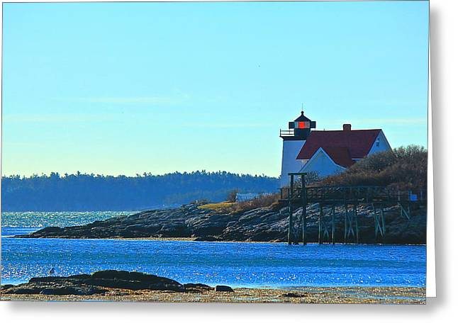 Greeting Card featuring the photograph Hendricks Head Lighthouse 2 by Amazing Jules