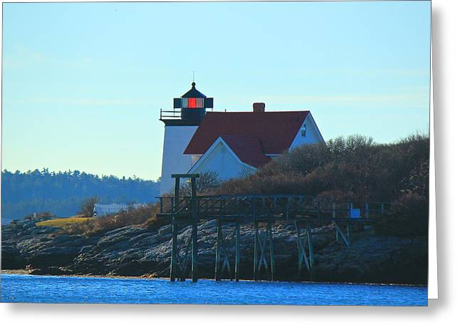 Greeting Card featuring the photograph Hendricks Head Lighthouse by Amazing Jules
