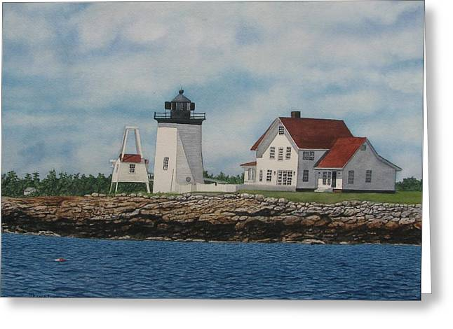 Hendricks Head Lighthouse Greeting Card by Sharon Farber