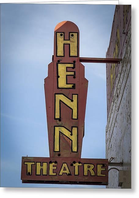 Henn Theatre Greeting Card by Debra and Dave Vanderlaan