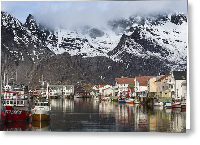 Henningsvaer Greeting Card