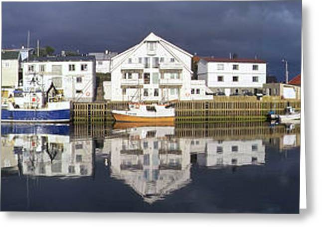 Henningsvaer Panoramic View Greeting Card by Heiko Koehrer-Wagner