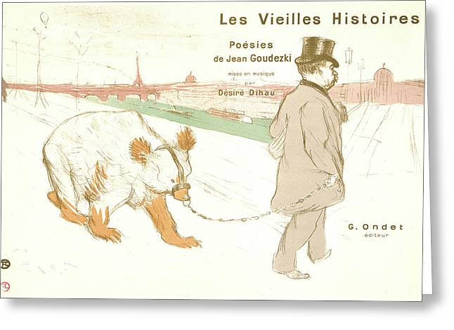 Henri De Toulouse-lautrec French, 1864 - 1901. Ancient Greeting Card by Litz Collection