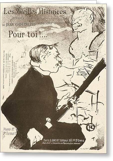 Henri De Toulouse-lautrec French, 1864 - 1901. For You Pour Greeting Card