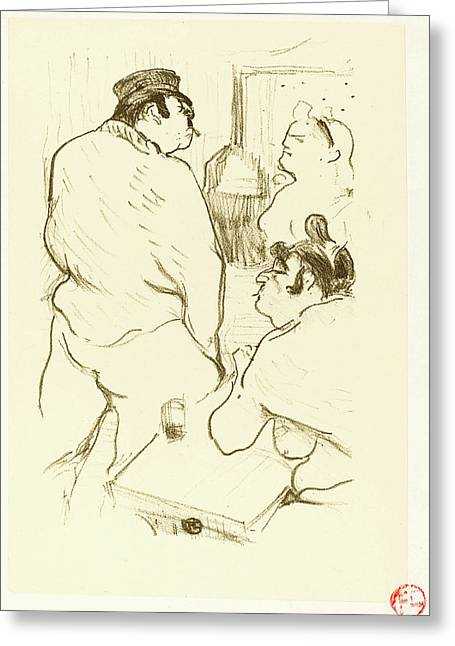 Henri De Toulouse-lautrec French, 1864 - 1901 Greeting Card