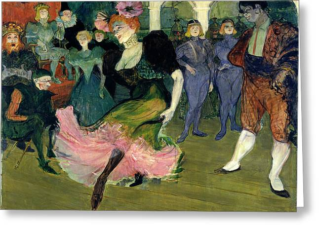 Henri De Toulouse-lautrec, Marcelle Lender Dancing Greeting Card by Quint Lox
