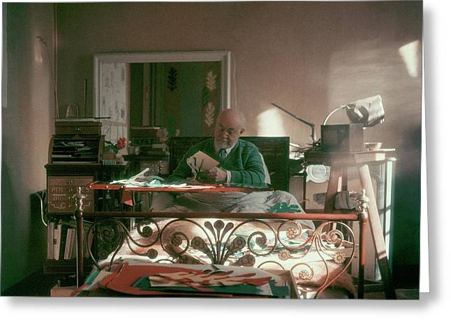 Henri Matisse In Bed Greeting Card by Clifford Coffin