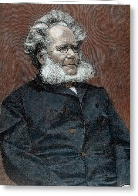 Henrik Ibsen (skien, 1828-christiania Greeting Card by Prisma Archivo