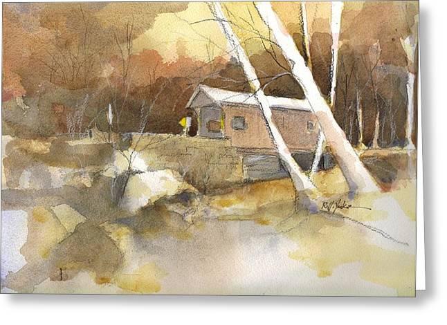 Henry Bridge In Fall  Greeting Card by Robert Yonke