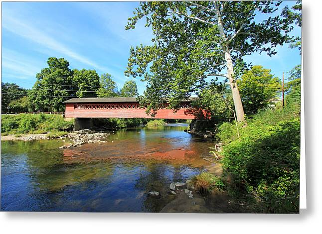 Greeting Card featuring the photograph Henry Bridge by Trina  Ansel