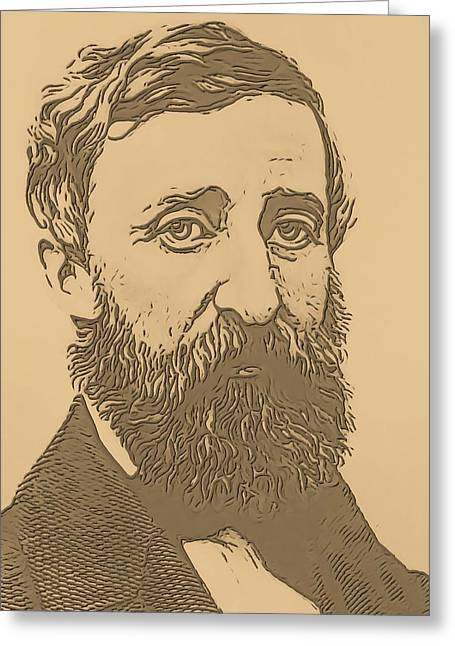 Henry David Thoreau Greeting Card by Dan Sproul