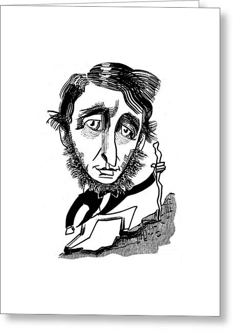 Henry David Thoreau Greeting Card by Tom Bachtell