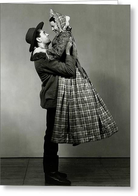 Henry Fonda Lifting June Walker Greeting Card by Florence Vandamm