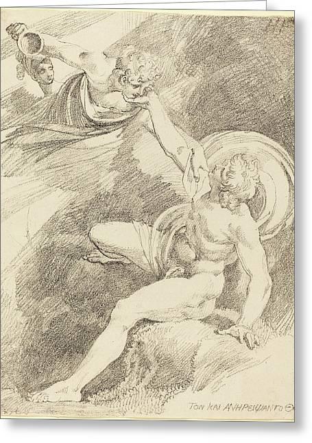 Henry Fuseli Swiss, 1741 - 1825, The Rape Of Ganymede Greeting Card