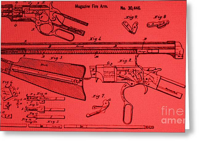 Henry Rifle Patent Drawing Greeting Card