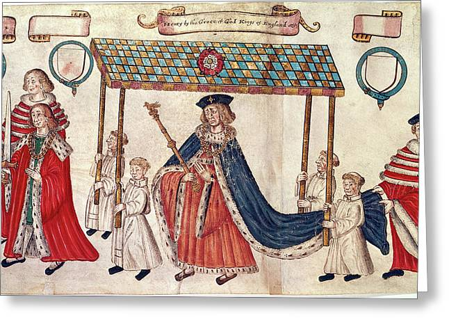 Henry Viii; Duke Of Buckingham Greeting Card by British Library