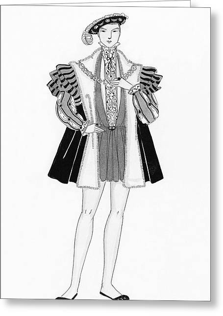 Henry Viii Style Clothing Greeting Card by Claire Avery