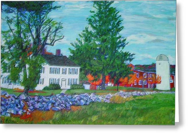 Henry Warren House And Barn Greeting Card
