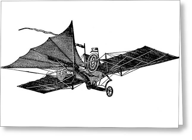 Henson's Aerial Steam Carriage Greeting Card