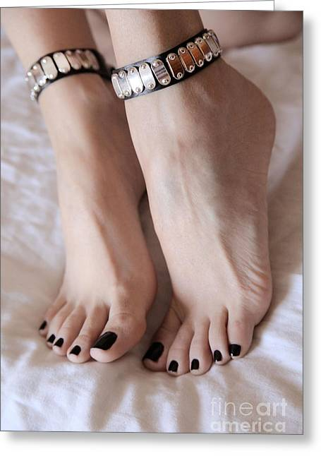 Her Amazing Feet Greeting Card by Tos