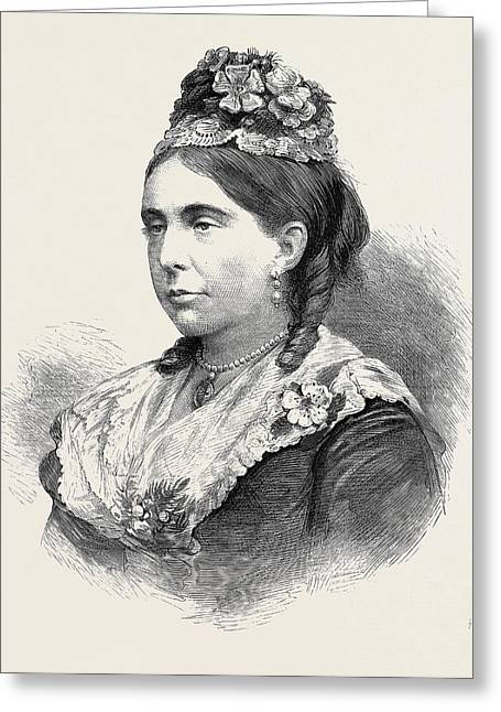 Her Grace The Duchess Of Marlborough 1880 Greeting Card by English School