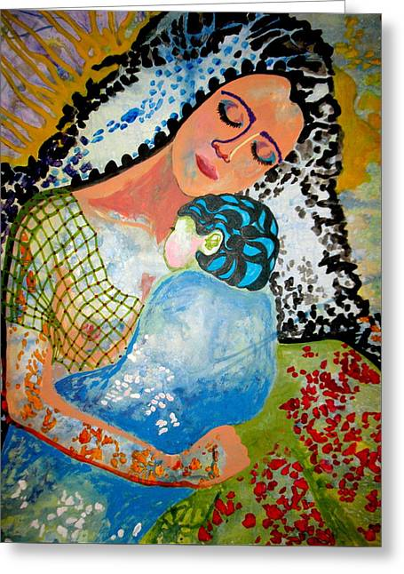 Greeting Card featuring the painting Her Love by Amy Sorrell