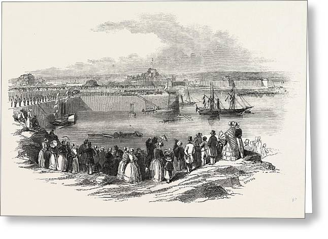 Her Majesty Queen Victoria Landing At Victoria Pier Greeting Card