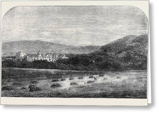 Her Majestys Palace At Balmoral Greeting Card by English School