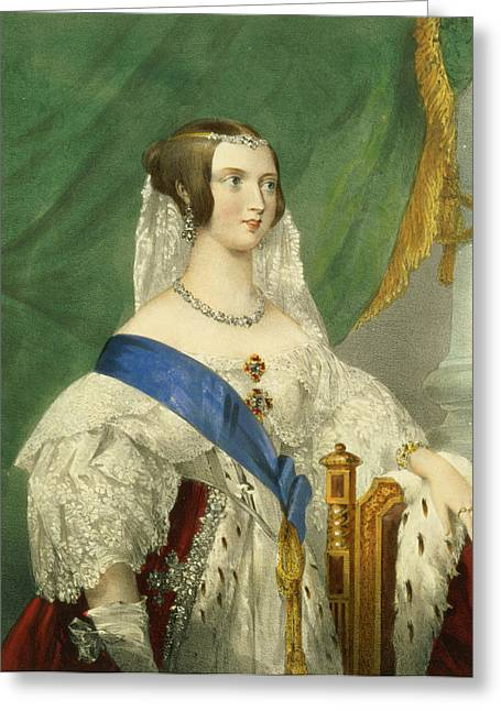 Her Most Gracious Majesty, Queen Greeting Card by George Howard