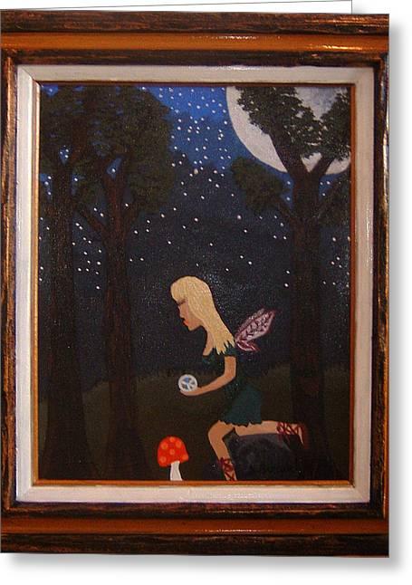 Her Night Light  Greeting Card by Yvonne  Kroupa