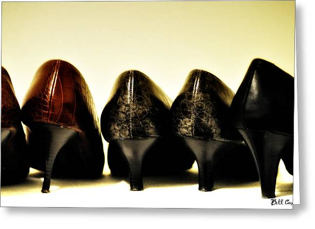 Her Shoes Greeting Card by Bill Cannon