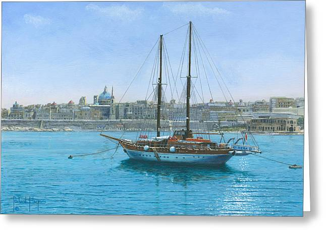 Hera 2 Valletta Malta Greeting Card by Richard Harpum