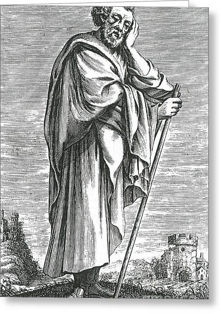 Heraclitus Of Ephesus, Greek Philosopher Greeting Card