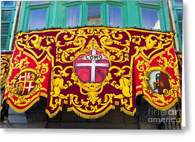 Heraldic Banner, Malta Greeting Card by Tim Holt