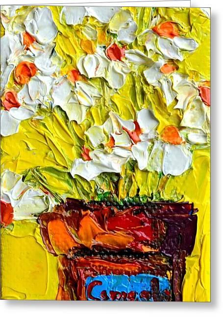 Herbal Tea Camomile Plant Greeting Card by Patricia Awapara