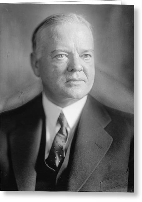 Herbert Hoover Greeting Card by Georgia Fowler
