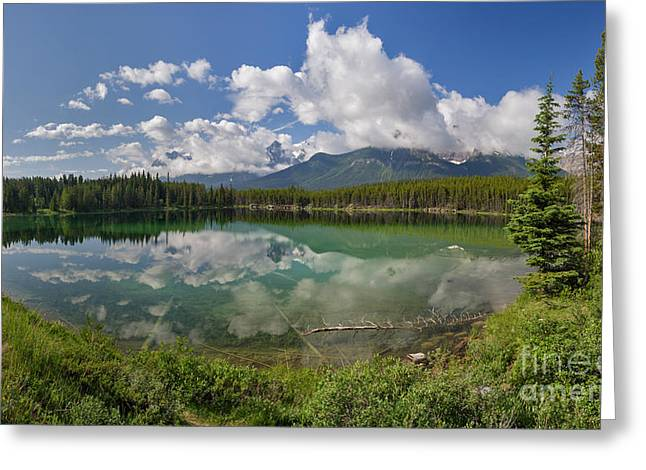 Herbert Lake And The Bow Range Greeting Card by Charles Kozierok