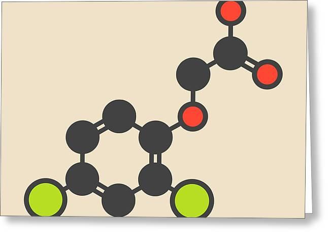 Herbicide Molecule Greeting Card