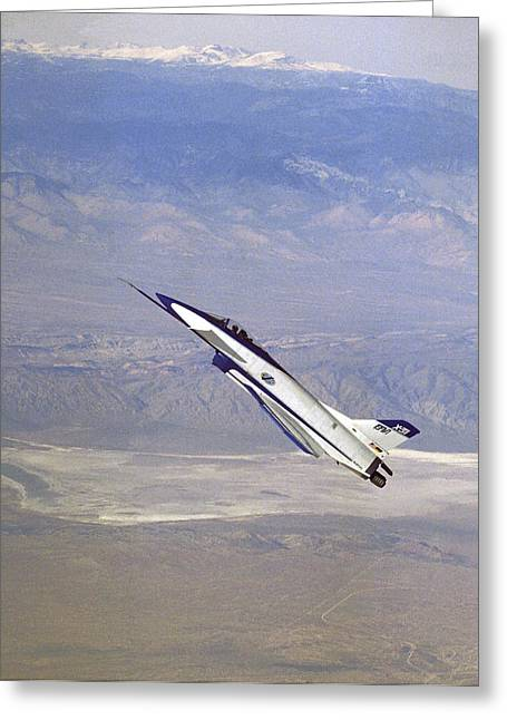 Herbst Manoeuvre By X-31 Aircraft Greeting Card by Nasa