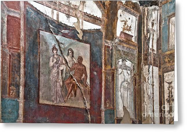 Herculaneum Wall Greeting Card by Marion Galt