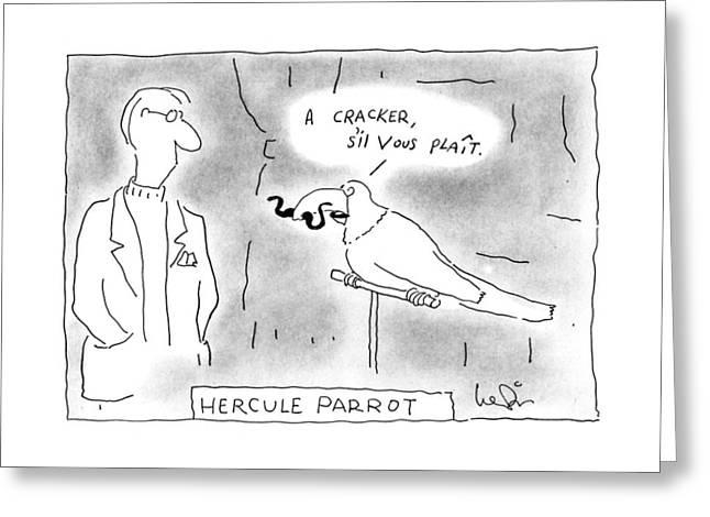 Hercule Parrot Greeting Card by Arnie Levin