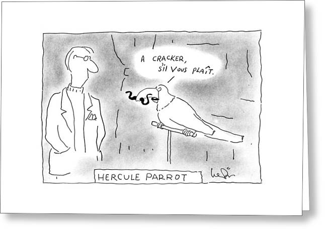 Hercule Parrot Greeting Card